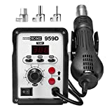 VIVOHOME 959D SMD Rework Station Hot Air Heat Gun Desoldering with 3 Nozzles 110V
