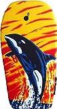 EXPLORER Bodyboard 94x47x5cm Schwimmboard Board Surf Wal mit Halteleine und Klett Surfboard Schwimmbrett Strand Wasser Sommer Wellen Wellenreiten -