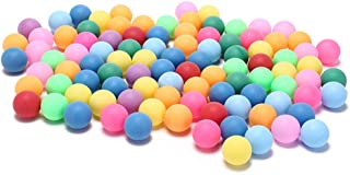 meizhouer 50Pcs/Pack Colored Ping Pong Balls 40mm 2.4g Entertainment Table Tennis Balls Mixed Colors Game Advertising