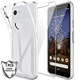 LK Case For Google Pixel 3a, [Silicone Gel] Soft Flexible