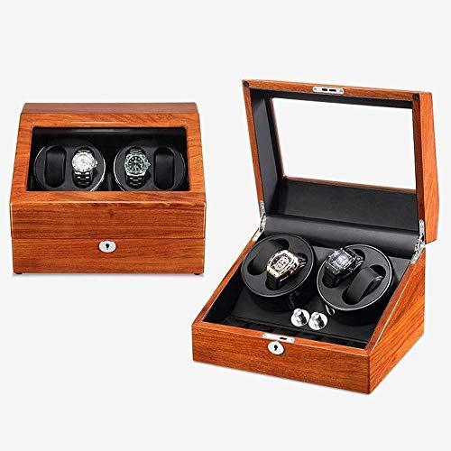 Shaker Mecanical Watch Wood sólido Caja de bobinado automático Reloj de Transferencia Caja de Reloj Mesa de bobinado Moda casero (Color: a) Jzx-n (Color : A)