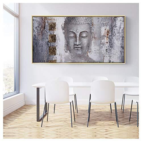 LangGe Carteles Arte de Lienzo Pinturas de Buda Cuadros de