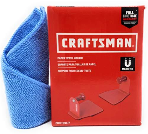 Craftsman Magnetic Paper Towel Holder and Tesadorz Microfiber Towel