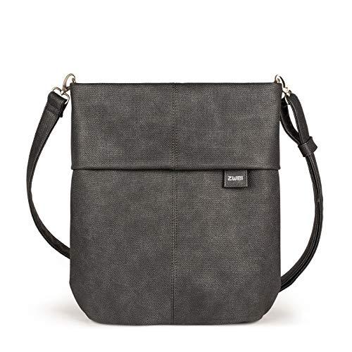 Zwei Mademoiselle M12 Handtasche, Canvas-graphit (Schwarz),