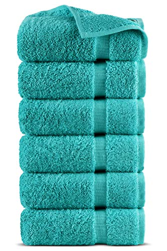 Indulge Linen 100% Turkish Cotton Towel Set (White, Hand Towels - Set of 6)