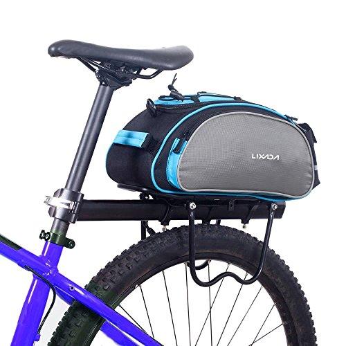 Lixada Bolsa Trasera para Bicicleta Multifuncional Bolsa de