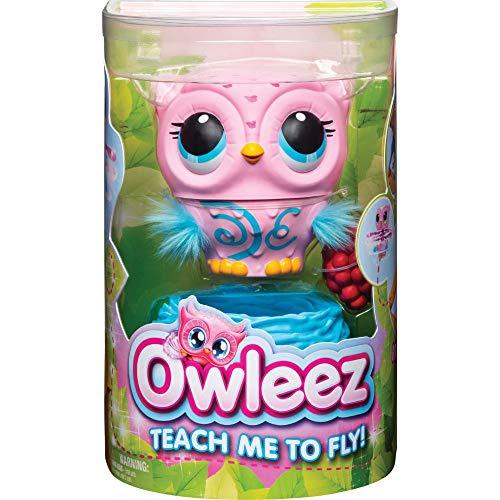 Owleez fliegende interaktive Spielzeug - Babyeule mit Leuchteffekten und Sound, pink