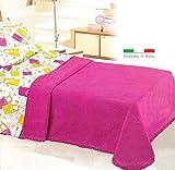 CASA TESSILE Ciniglia Classico copriletto Matrimoniale cm 260x270 - Arancio