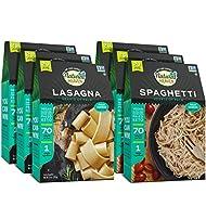 Natural Heaven Veggie Pasta Spaghetti and Lasagna Noodles 9oz (6 Packs)