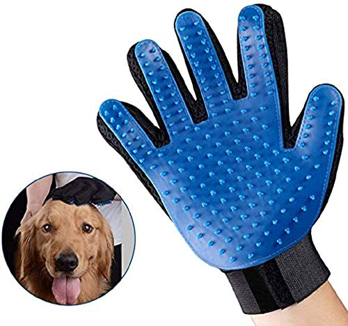 Pet Hair Remover Glove, Massage & Bathing Comb, Pet Grooming Brush Glove Perfect for Dog & Cat and All Furry Friends