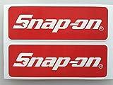 2 Snap-On Tools Badge Die Cut Decals