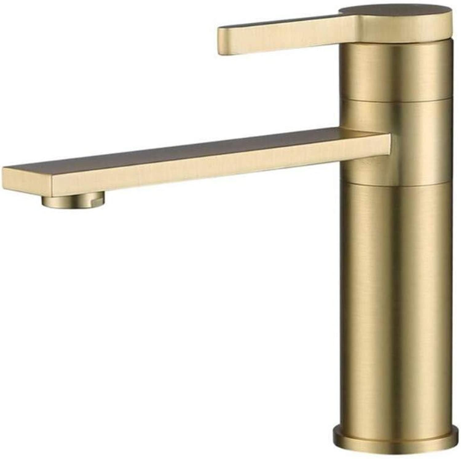 Copper Faucet Basin Nordic Brass Basin Faucet Copper Hot and Cold redating Faucet Matte Brushed gold Washbasin Faucet