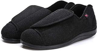 Chaussons Diabétiques pour Femmes Hommes Réglable Velcro Orthopédique Pantoufles Extra-Larges Chaussures pour Personnes Âg...