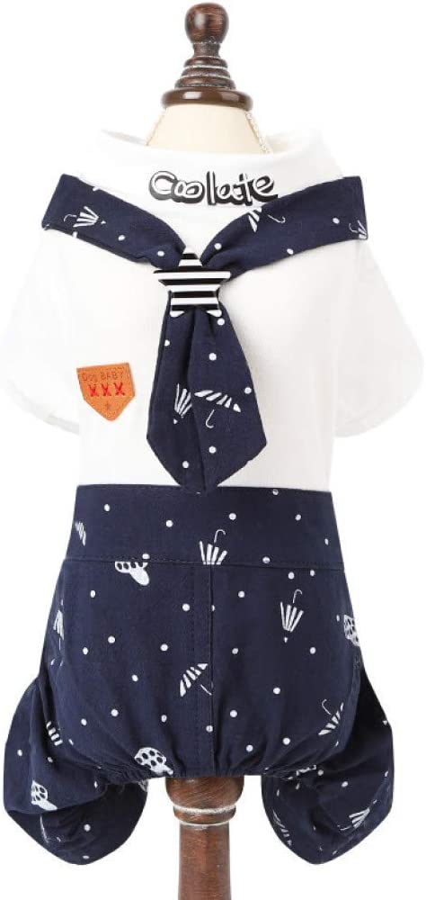 XYSQWZ Summer Pet Clothes Award Deluxe Dog Navy Prin Puppy Shorts Cute Lovers