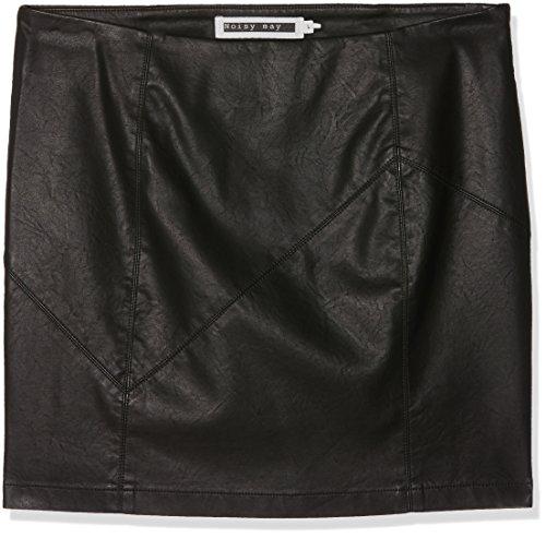 NOISY MAY Damen NMREBEL PU NW SHORT SKIRT NOOS Rock, Schwarz (Black), 42 (Herstellergröße: XL)