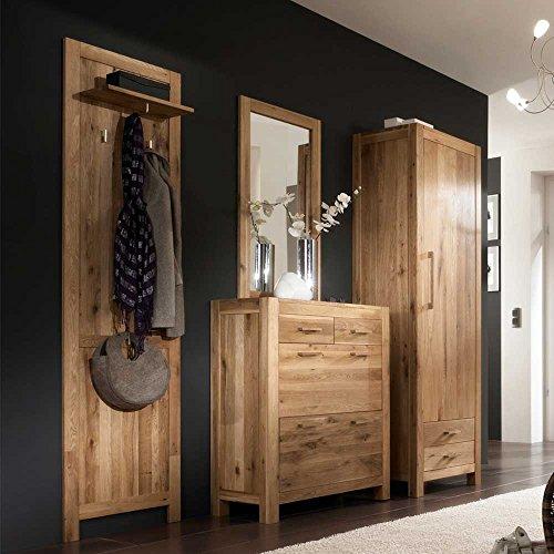 Pharao24 Garderobenmöbel Set Honey aus Wildeiche Massivholz (4-teilig)