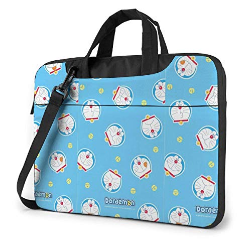 Lsjuee 14 Inch Laptop Bag Doraemon Laptop Briefcase Shoulder Messenger Bag Case Sleeve