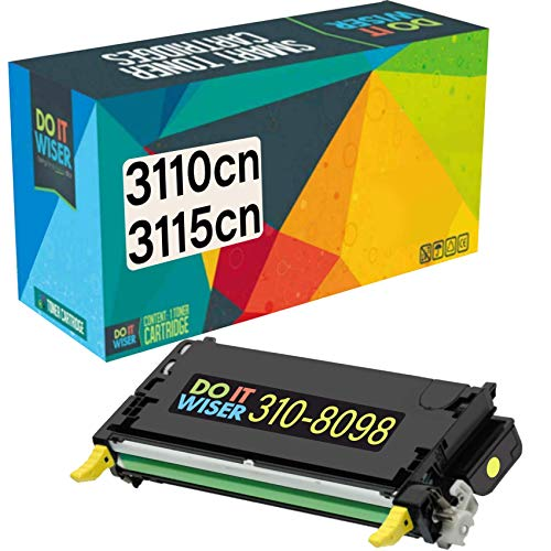 Do it Wiser Remanufactured Toner Cartridge Replacement for Dell 3110cn 3115cn 3110 3115 | 310-8098 - High Yield 8,000 Pages (Yellow)