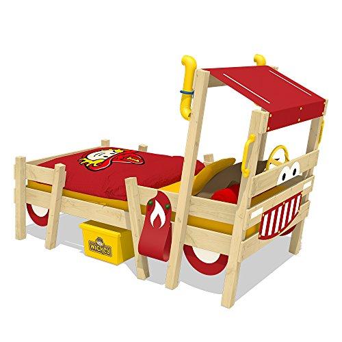 WICKEY Kinderbett 'CrAzY Sparky Pro' - Spielbett im Feuerwehr-Look - Einzelbett - 90x200 cm