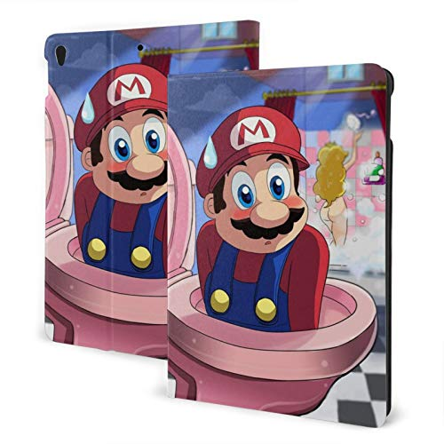 Super Mario Shower Shy Funny Ipad 7th Generation Case 10.2inch Ipad Case Auto Sleep/Wake,Slim Stand Hard Shell Protective for 7th Gen Ipad 10.2 Inch 2019-Ipad Air3 & Pro 10.5inch One Size