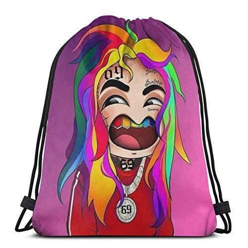 ewretery Drawstring Bags Free Tekashi 6ix9ine Stoopid Dummy Unisex Drawstring Backpack Sports Bag Rope Bag Big Bag Drawstring Tote Bag Gym Backpack in Bulk