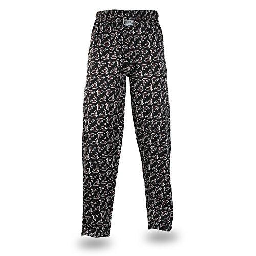 Zubaz NFL Atlanta Falcons Men's Team Logo Print Comfy Jersey Pants, Large, Black