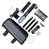 YOUYOUTE Bike Repair Kits with Pump, Mini Bicycle Pump 120 PSI with...