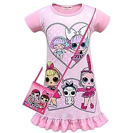 ALAMing– Nuisette LOL Surprise pour filles de 3 à 8 ans– rouge, rose, mauve