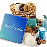 Mrs. Fields Cookies Thank You Combo Tin Includes: 2 Original Cookies, 6 Large Brownie Bars and 6...