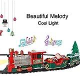 Further Kinder Kleine Bahngleis Spielzeug - Elektrische Eisenbahn Weihnachten Mini Spielzeugeisenbahn Mit Musik Licht + Mit Lokomotive, Kinder Spielzeug Weihnachten Eisenbahn -