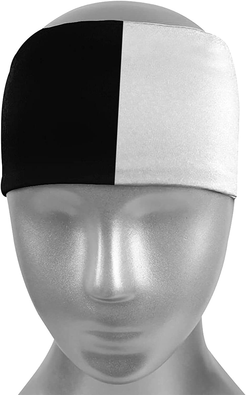 Ldmsl Split Popular products Large special price !! Black and White Unisex N Athletic Sweatbands Elastic