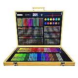 Conjunto de Arte De los niños Arte de la pintura suministros de librería pinceles de acuarela Conjunto de lápiz crayones acuarelas pasteles del aceite de color plomo de goma pegamento para Niños Dibuj