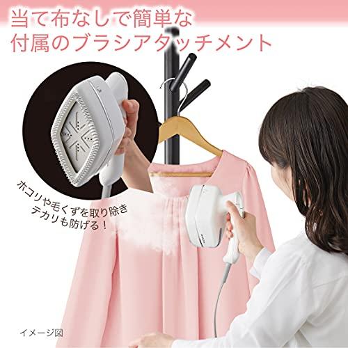 【Amazon.co.jp限定】日立衣類スチーマースチームアイロンワンプッシュ連続スチーム2段階スチーム3段階温度切替ブラシ付きCSI-RX2AWパールホワイト