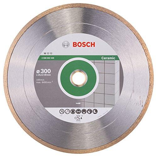 Bosch Professional Diamanttrennscheibe Standard für Ceramic, 300 x 30 und 25,40 x 2 x 7 mm, 2608602540