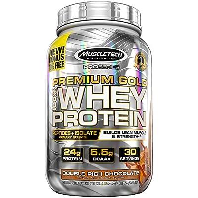 MuscleTech Premium Gold 100% Whey Protein Powder