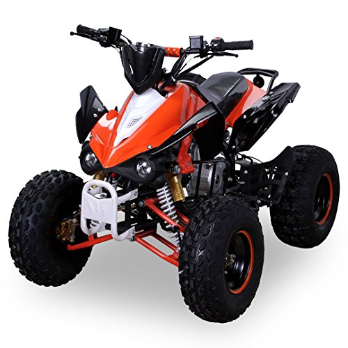 Kinder Quad S-12 125 cc Motor Miniquad Midiquad 125 ccm Panthera (Orange/Weiß)