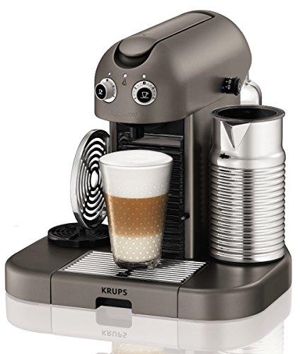 Nespresso Gran Maestria Titanium XN8105 Krups - Cafetera monodosis (19 bares, Apagado automático, Precalentamiento automático de tazas)