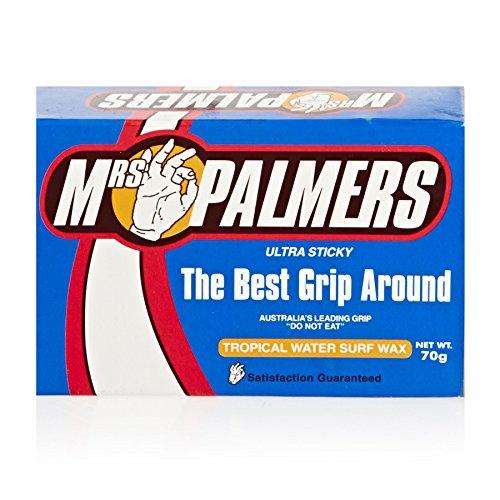 Mrs Palmers Tropical Water Surf Wax - Watertemperatuur: 24 ° C en warmer - Verhoogde stickfactor met additief van tractie 2000