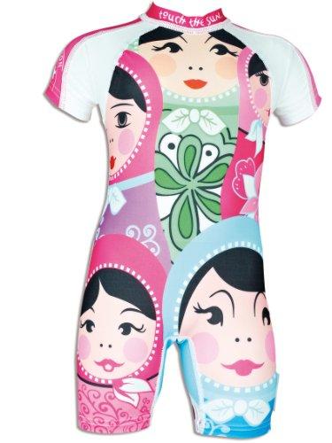 4BB2 Mädchen UV Schutz Schwimmanzug Poupee Russe, mehrfarbig, 18 Monate, 60060/18M