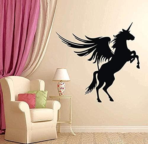 TJVXN Arte Creativo Pegatina Vinilo Pegatina ala de Caballo Animal Mural Cartel Interior 100 * 96Cm