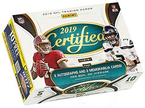 Panini 2019 Certified Football Hobby Box NFL