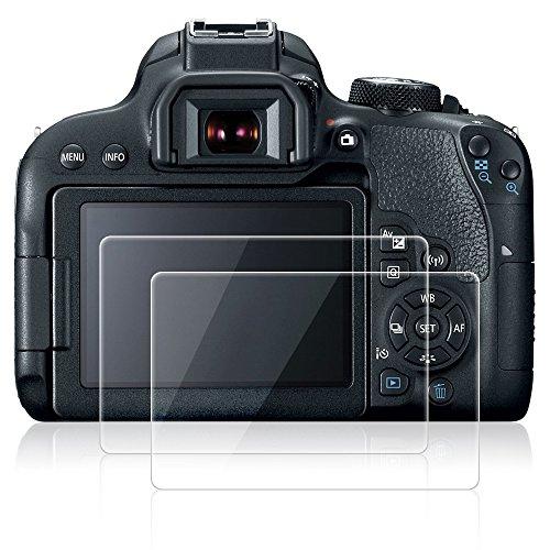 AFUNTA Protectores de Pantalla para Canon EOS 800D, 2 Pack Anti-Rayas de Vidrio Templado Películas de protección para cámaras Digitales DSLR