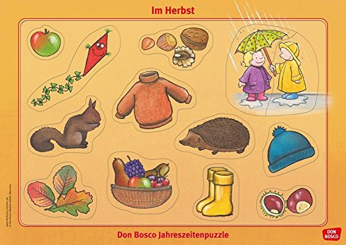 Im Herbst: Don Bosco Jahreszeitenpuzzle (Don Bosco Jahreszeitenpuzzle für Familie, Krippe, Kita und Eltern-Kind-Gruppe)
