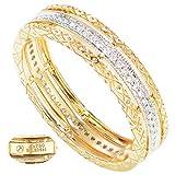 Anello donna eternity in oro giallo 18 ct / 750 con diamanti taglio brillante