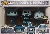 Funko Pop Disney Kingdom Hearts – Sora Goofy Donald Tron exclusivo paquete de 3 unidades que brillan...