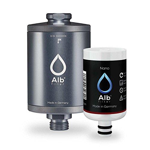 Alb Filter® Nano Trinkwasser-Filter für jede Küche. Zertifizierte Spezial-Filter-Kartusche gegen gefährliche Keime und Baketerien. Made in Germany Titan