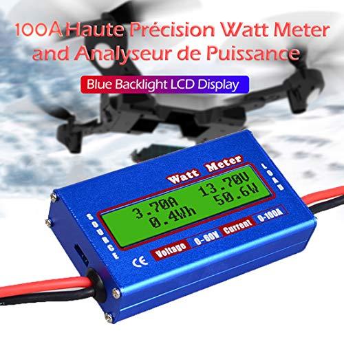 JuneJour Wattmeter Power Analyzer Batterieverbrauch Leistungsüberwachung Analyzer Stromkostenmessgerät Balance Prüfgerät mit LCD Display