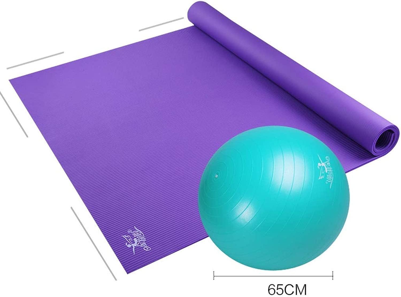 ヨガマット大型ダブルヨガマット肥厚ロングダンス練習ノンスリップフィットネスホームマット Makmafo (Color : A, Size : 15mm)