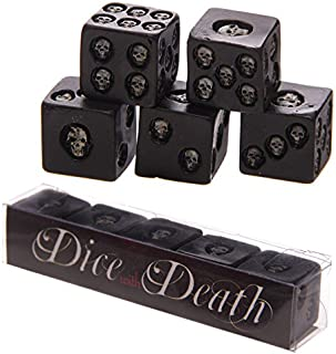 Puckator SK200, Set of 5 Six-Sided Die with Inlaid Skulls