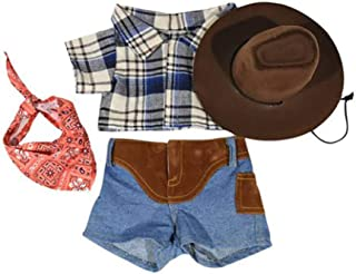 Cowboy Outfit Teddy Bear Clothes Outfit Fits Most 14